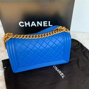 CHANEL Bags - Chanel boy quilted flap bag